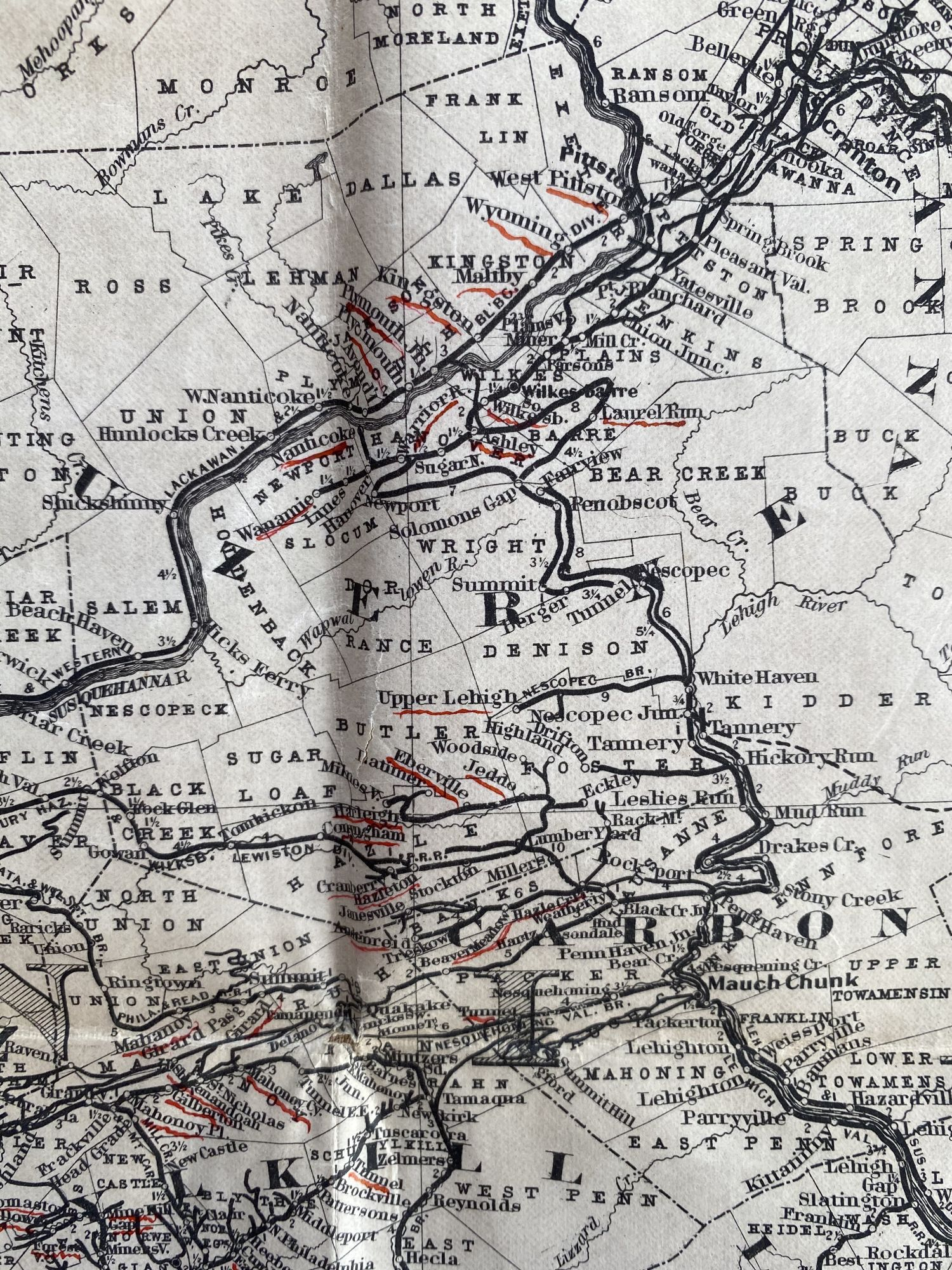 Image of: Colton S New Township Railroad Map Of Pennsylvania And New Jersey Cover Title Anderson S Rail Road Map Of Pennsylvania Published By J S Smith Phila G W Colton