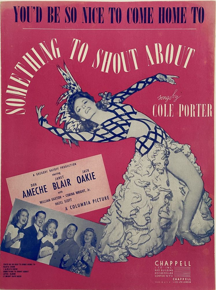 You'd Be So Nice to Come Home To; Something to Shout About. Cole PORTER.