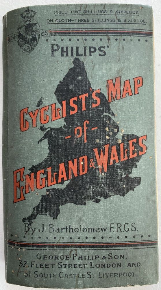 Tourist's Map of England & Wales from the Ordnance Survey; Cover title: Philips' Cyclist's Map of England & Wales, by J. Bartholomew FRGS. John BARTHOLOMEW.
