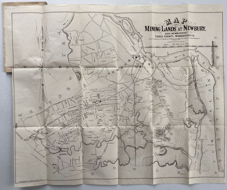 Mineral Deposits in Essex County Massachusetts, Especially in Newbury and Newburyport with Map and Notes; Map title: Map of Mining Lands at Newbury and Newburyport, Essex County, Massachusetts. Charles J. BROCKWAY.