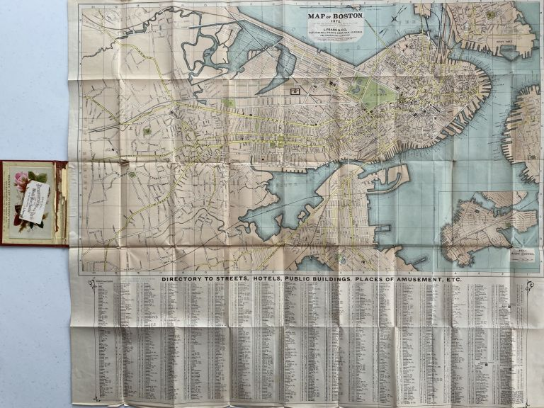 Map title: Map of Boston 1872, After the Latest Surveys with all the imporvements in Progress; Case title: Prang's Map of Boston. James B. GARDNER, Draughtsman.