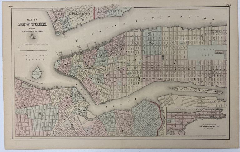 Map of New York and Adjacent Cities; Recto: State of New Jersey. G. Woolworth COLTON.