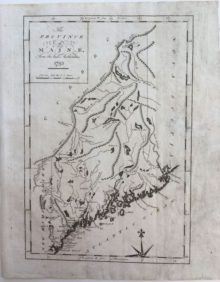 The Province of Maine, from the best Authorities 1795. John REID.