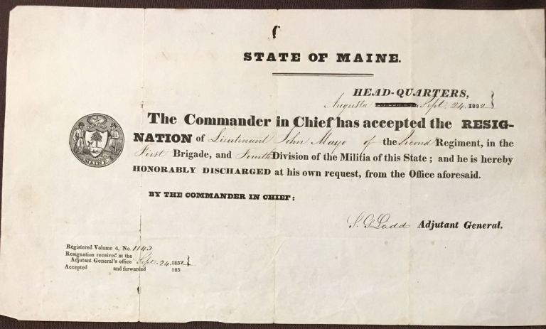 State of Maine [Honorable Discharge]