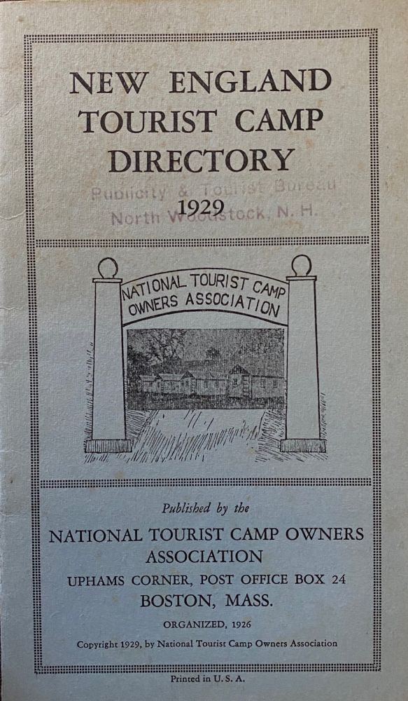 New England Tourist Camp Directory 1929