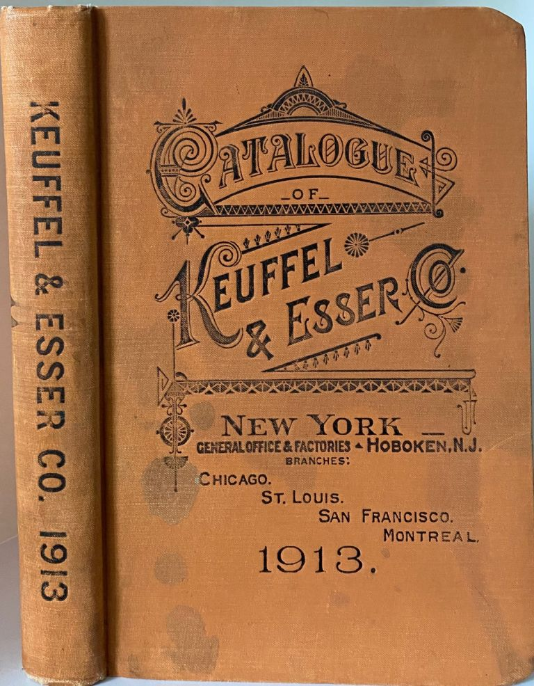 Catalogue of Keuffel & Esser Co., Manufacturers and Importers, Drawing Materials, Surveying Instruments, Measuring Tapes, 34. Edition