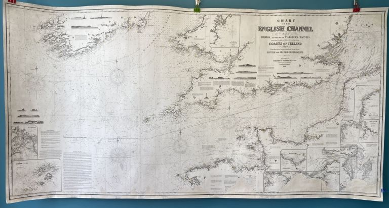 Chart of the English Channel, The Bristol, and part of the St. George's Channels, including the South, and South West Coasts of Ireland. Compiled from the recent surveys made by order of the British and French Governments. James and Son IMRAY.