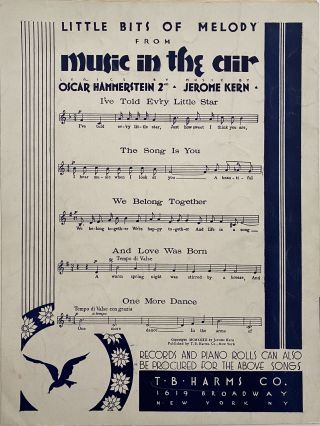 Make Believe; From the Universal Picture, Screen Play by Oscar Hammerstein II, Based Upon the Edna Ferber Novel, Show Boat