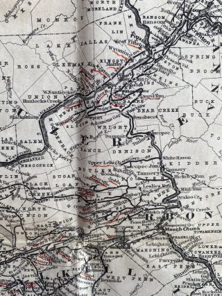 Colton's New Township Railroad Map of Pennsylvania and New Jersey; Cover title: Anderson's Rail Road Map of Pennsylvania Published by J.S. Smith, Phila.