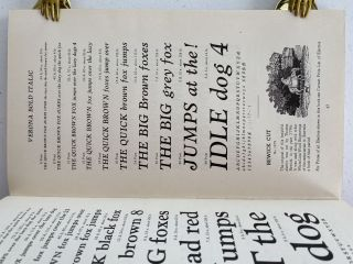Specimens of Printing Types from Stephenson Blake, The Caslon Letter Foundry Sheffield