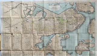 Map title: Map of Boston 1872, After the Latest Surveys with all the imporvements in Progress; Case title: Prang's Map of Boston