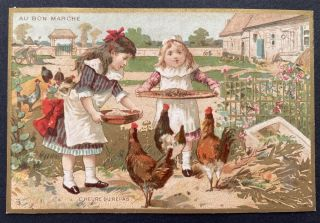 Scrapbook of Chromolithographed Trade Cards for French stores