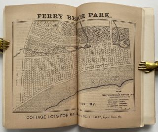 Old Orchard, Maine. Pen and Pencil Sketches; Map: Plan of Ferry Beach Park, Cottage Lots, Ferry Beach, Saco, Maine
