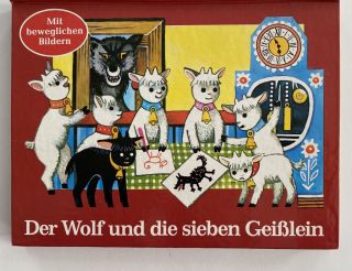 Der Wolf und die sieben Geißlein; English translation: The Wolf and the Seven Little Hostages,...
