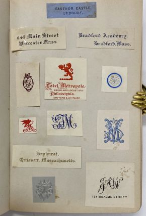 Scrapbook Collection of Stationery Logos, Emblems, Insignias, and Monograms