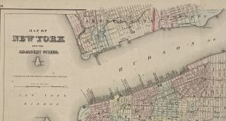 Map of New York and Adjacent Cities; Recto: State of New Jersey