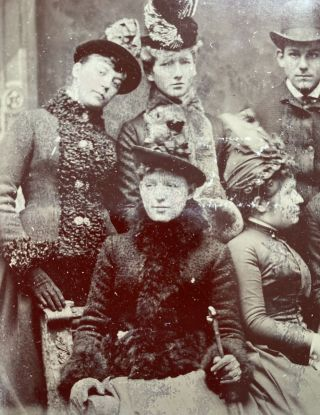 [Dressed in Finery]--a Tintype Photograph of 8 young people.
