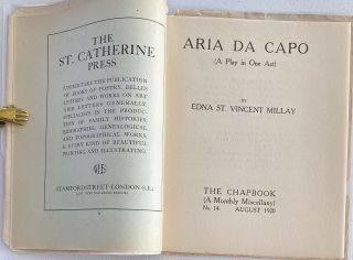 Aria Da Capo (A Play in One Act,) The Chapbook (A Monthly Miscellany,) No. 14, August 1920