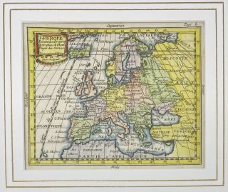 L'Europe, Suivant les dernieres Observations de l'Acad-Royale des Sciences; English translation: Europe, according to the latest observations of the Royal Academy of Sciences.