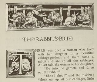 Household Stories, from the Collection of the Bros. Grimm: Translated from the German by Lucy Crane and Done into Pictures by Walter Crane