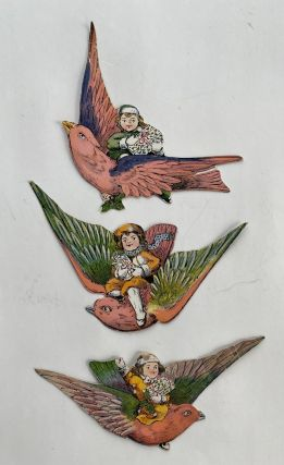 Set of 8 Chromolithographed Die-Cut Paper Ornaments