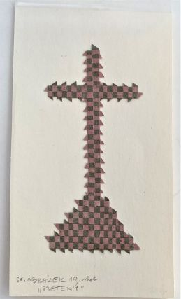 Czech Paper Weaving Craft of a Christian Cross