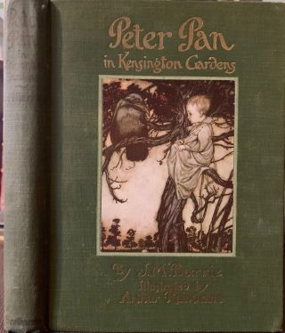 "Peter Pan in Kensington Gardens, (From the ""Little White Bird""). J. M. BARRIE"