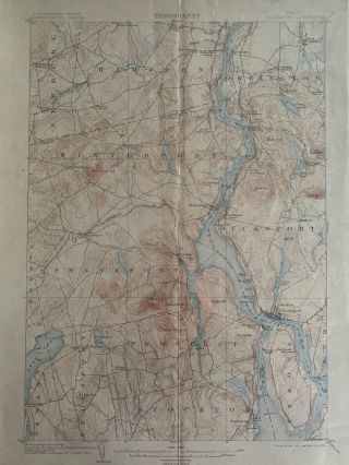 Maine Bucksport Quadrangle, Topography, State of Maine, U.S. Geological Survey, Charles D....