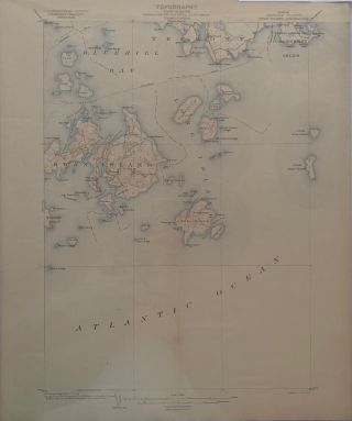 Maine (Hancock County), Swan Island Quadrangle, Topography, State of Maine, U.S. Geological...