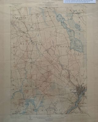 Maine (Penobscot County) Bangor Quadrangle, Topography, State of Maine, U.S. Geological Survey,...