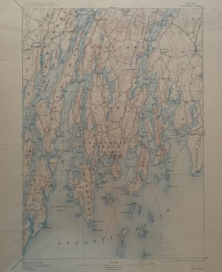 Maine, Boothbay Sheet, Topography, State of Maine, U.S. Geological Survey, George Otis Smith,...