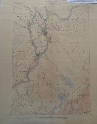 Maine (Penobscot County) Orono Quadrangle, Topography, State of Maine, U.S. Geological Survey,...