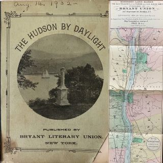 The Hudson by Daylight. Map showing the Prominent Residences, Historic Landmarks, Old Reaches of...