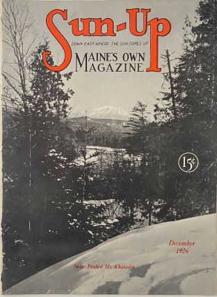 Sun-Up, Maine's Own Magazine, December 1926, No. 5, Vol. 3. Virginia L. GATES