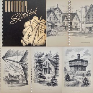 Boothbay Sketchbook, Black and White Impressions of the Boothbay Region, Maine. Norman MERRITT