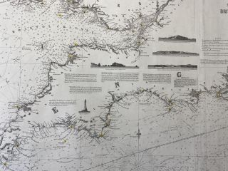 Chart of the English Channel, The Bristol, and part of the St. George's Channels, including the South, and South West Coasts of Ireland. Compiled from the recent surveys made by order of the British and French Governments