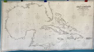 Chart of the Gulf of Mexico and Windward Passages including the Islands of Cuba, Haiti, Jamaica,...