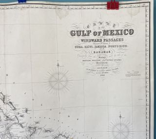 Chart of the Gulf of Mexico and Windward Passages including the Islands of Cuba, Haiti, Jamaica, Porto Rico, and the Bahamas. Compiled principally from the surveys made by the order of the British, Spanish, and United States Governments