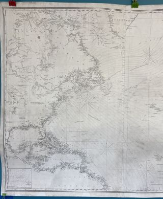 Chart of the North Atlantic Ocean from the Equator to 65 North Latitude According to the Latest Surveys and Observations