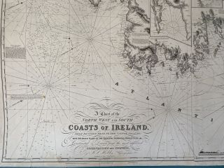A Chart of the North, West and South Coasts of Ireland from Bengore Head to the Saltee Islands; with Enlarged Plans of the Principal Harbours, Roadsteads, &c. Constructed and Drawn from the most approved Observations and Surveys