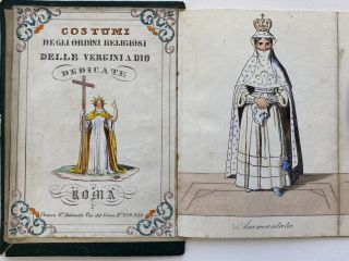 Costumi degli Ordini Religiosi Delle Vergini a Dio Dedicate; English: Costumes [habits] of the...